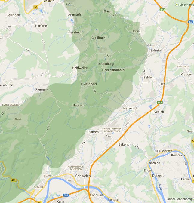Karte-Meulenwald